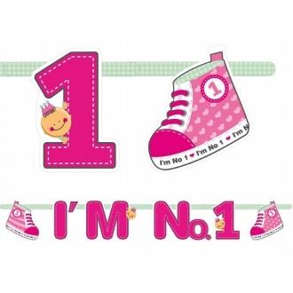 Baner I'm No. 1, różowy, 110cm, 1szt.