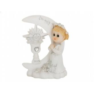 Figurka komunijna Dziewczynka, 9cm, 1szt.