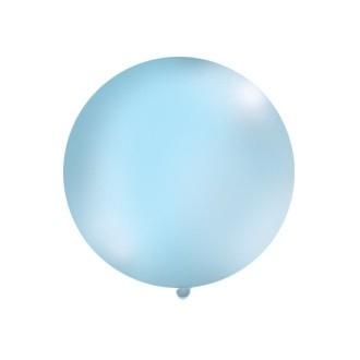 Balon 1m, okrągły, Pastel błękit, 1szt.