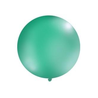 Balon 1m, okrągły, Pastel leśna zieleń, 1szt.