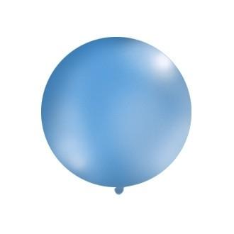 Balon 1m, okrągły, Pastel niebieski, 1szt.