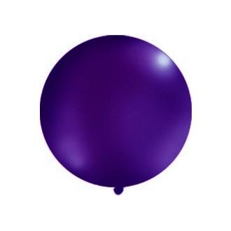 Balon 1m, okrągły, Pastel c. fiolet, 1szt.