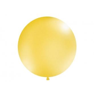 Balon 1m, okrągły, Metallic złoty, 1szt.