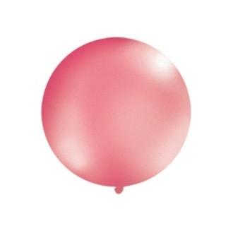 Balon 1m, okrągły, Metallic fuksja, 1szt.