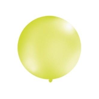 Balon 1m, okrągły, Metallic z. jabłuszko, 1szt.