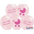 Balony 30cm Nasza Mała Dziewczynka, P. Pink