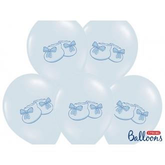 Balony 30cm, Bucik, Pastel Baby Blue, 50szt.