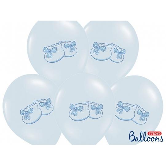 Balony 30cm, Bucik, Pastel Baby Blue, 6szt.