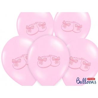 Balony 30cm, Bucik, Pastel Baby Pink, 50szt.