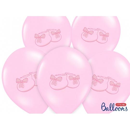 Balony 30cm, Bucik, Pastel Baby Pink, 6szt.