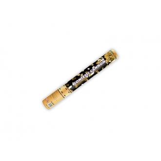 Tuba z konfetti, złoty, 40cm, 1szt.
