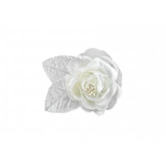 Satynowe róże na przyssawkach, krem, 5,5cm, 1op.