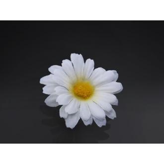 Kwiatki margerytki z taśmą, biały, 5cm, 1op.
