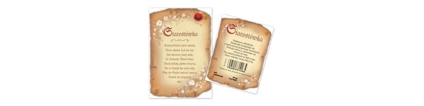 Etykiety na wódkę i wino